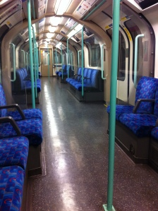 An empty carriage in London!